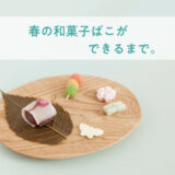 春の和菓子ばこができるまで。